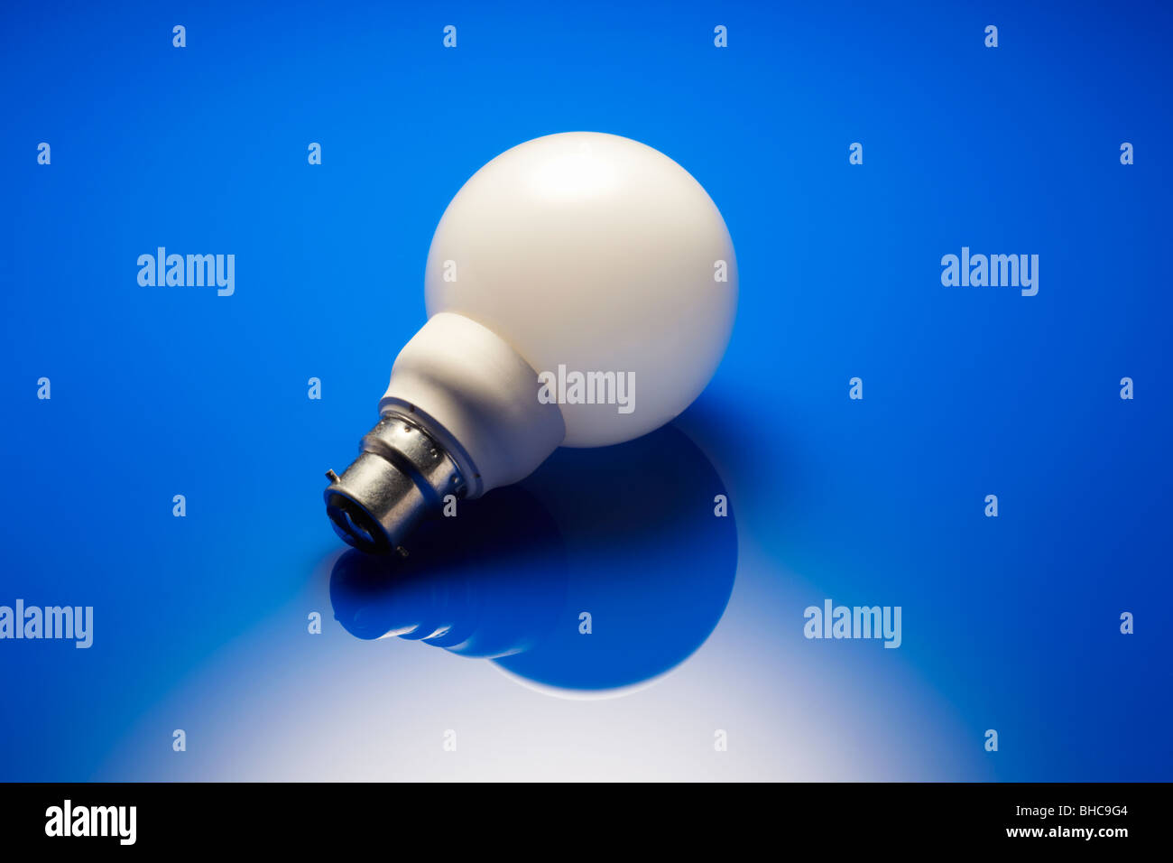 Risparmio energetico lampada Immagini Stock