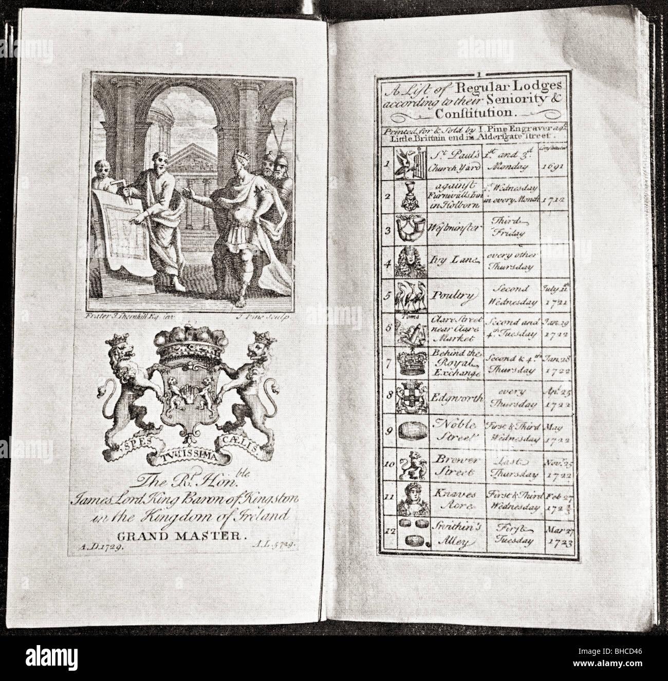 Calendario Antico.Facsimilie Di Un Antico Calendario Di Craft Logge Massoniche
