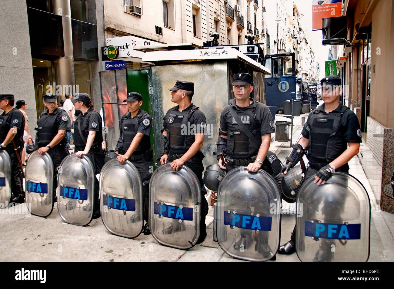 La protesta di dimostrazione marzo Zona Norte Buenos Aires Argentina Town City Immagini Stock