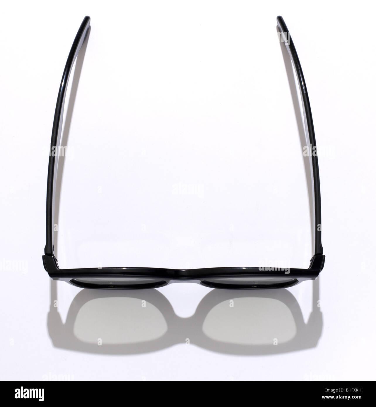 Telaio nero occhiali 3D Immagini Stock