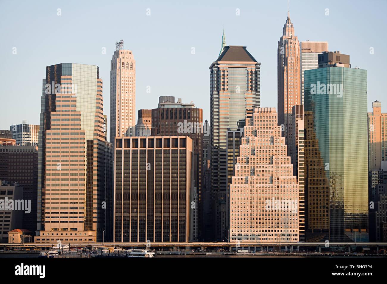 Edifici di Manhattan Immagini Stock