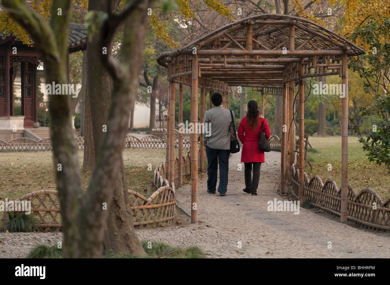L'Humble Administrator's Garden, Suzhou, provincia dello Jiangsu, Cina e Asia Immagini Stock