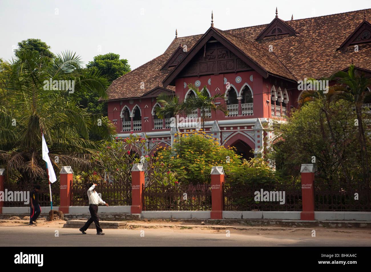 India Kerala, Thiruvananthapuram (Trivandrum), MG Road, College di Arti Decorative Immagini Stock