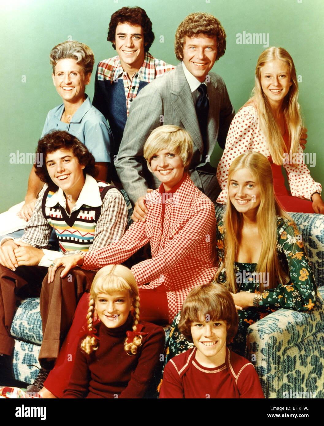 La BRADY BUNCH - NOI TV series 1969-74 con i presidi Robert Reed e Firenze Henderson Immagini Stock