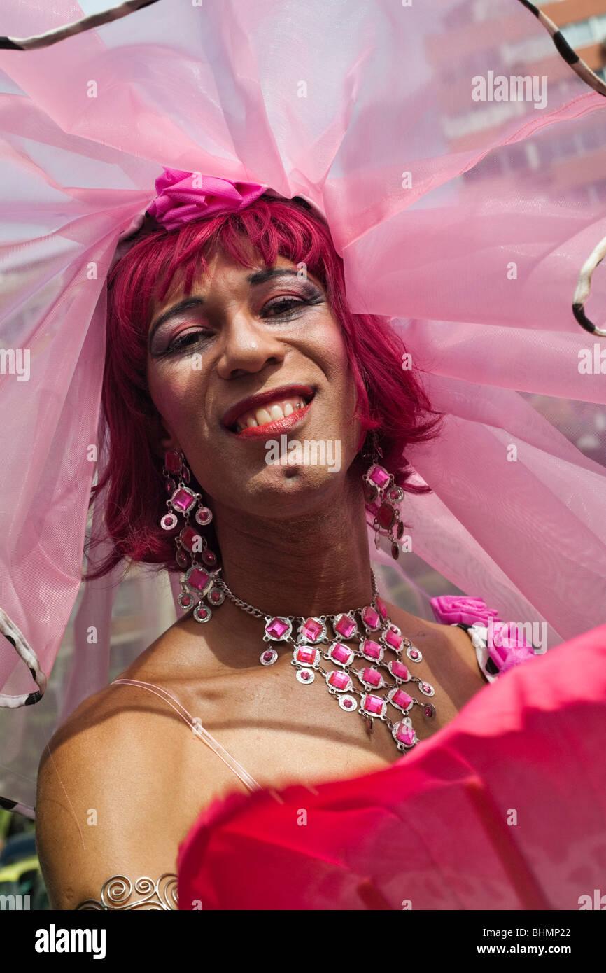 Il carnevale di Rio de Janeiro in Brasile. Banda de Ipanema Parade Immagini Stock