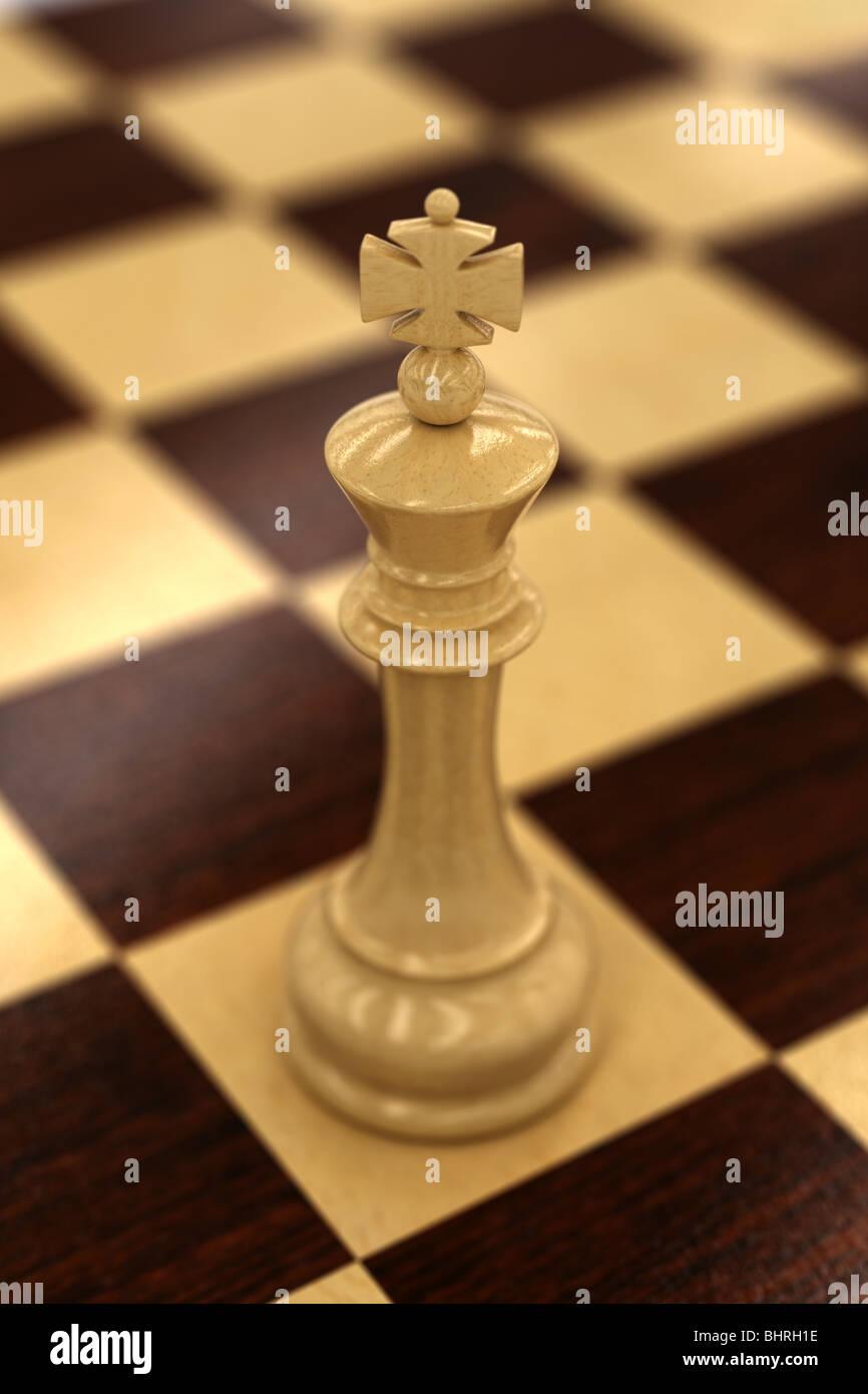 Bianco re di scacchi Immagini Stock