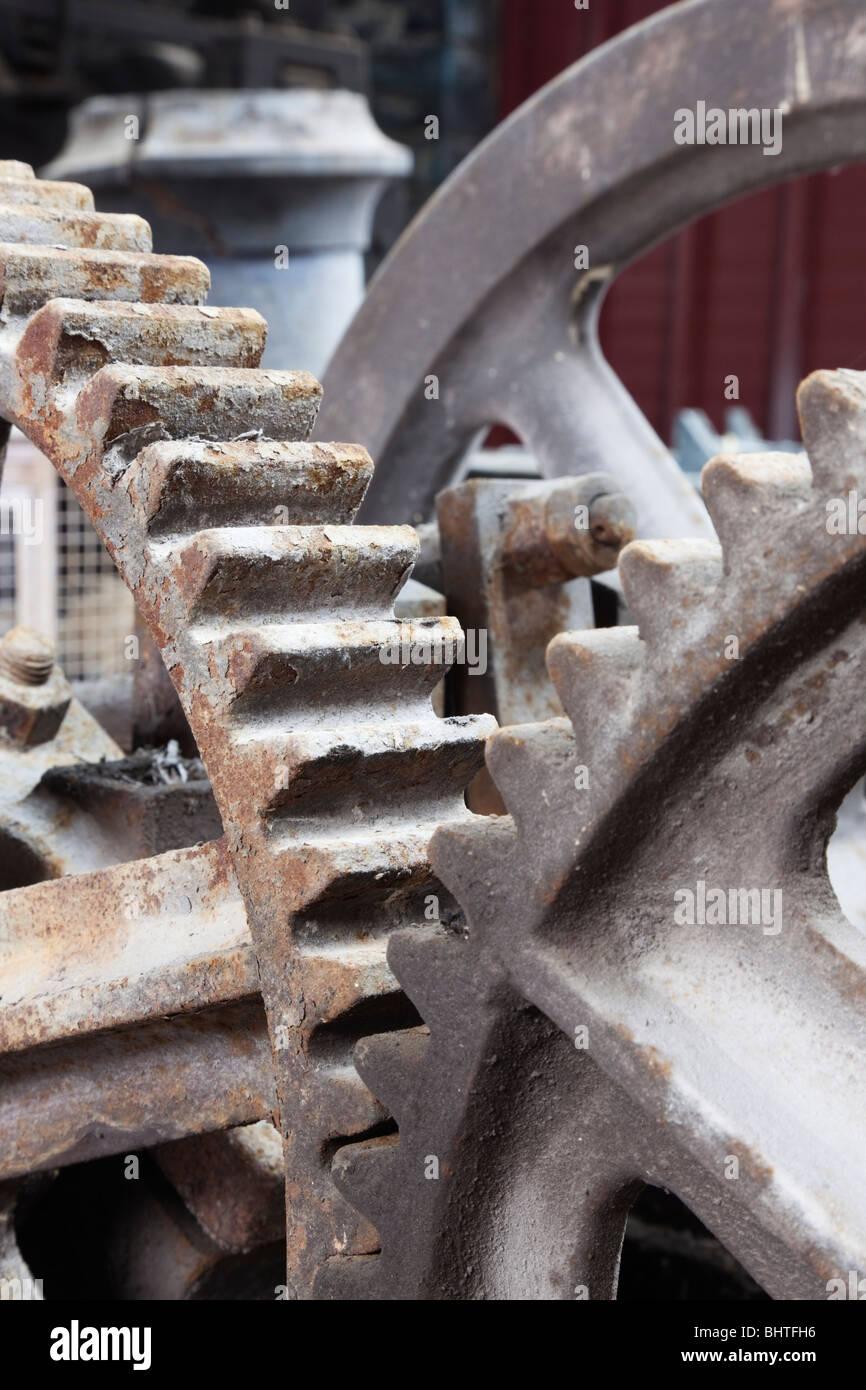 Industriali ruote cog incastro degli ingranaggi Immagini Stock