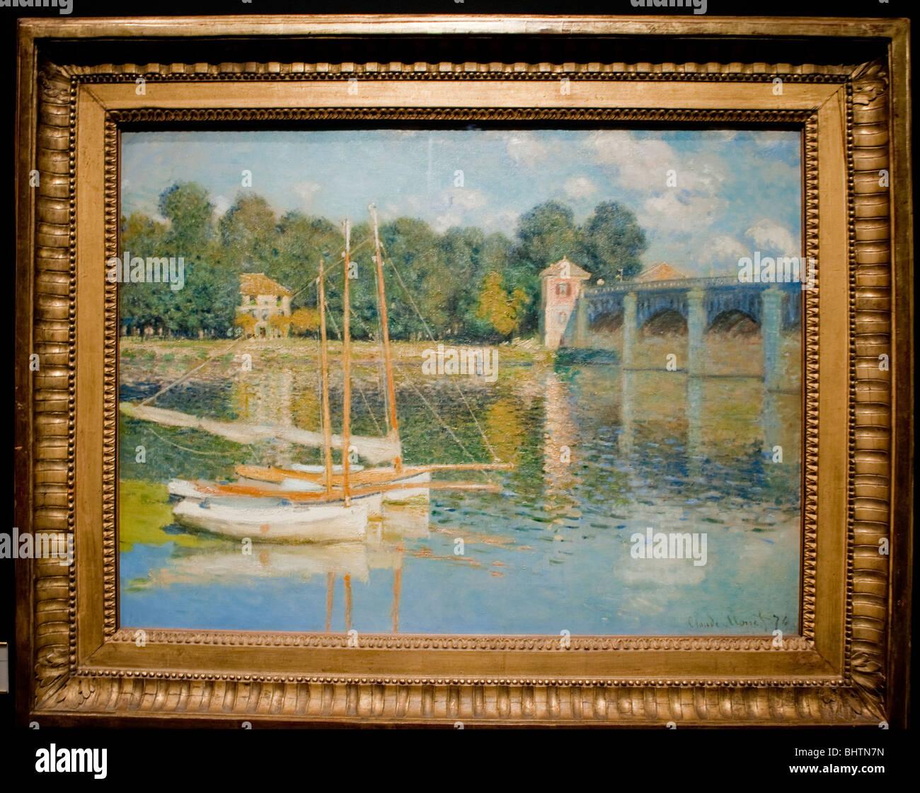 """Parigi, Francia - Dettaglio francese moderno 'Post-impressionismo"""" dipinto sul display interno del museo Immagini Stock"""