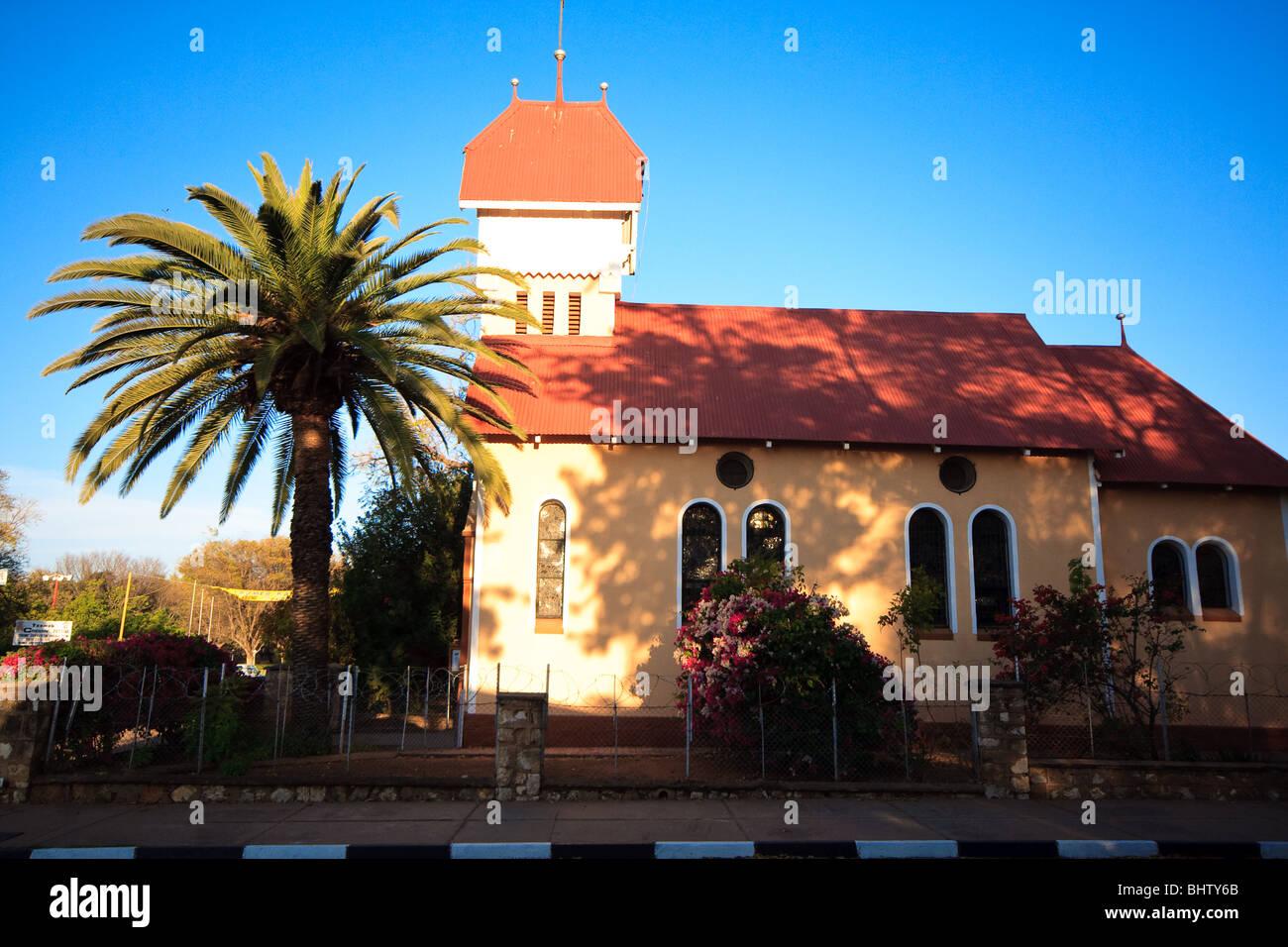 Africa Sky cristianesimo chiese Namibia Tsumeb Immagini Stock