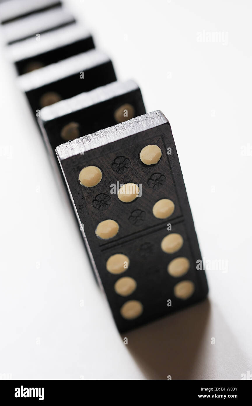 Royal box del domino domino giocattolo antico giocattoli gioco giochi Immagini Stock