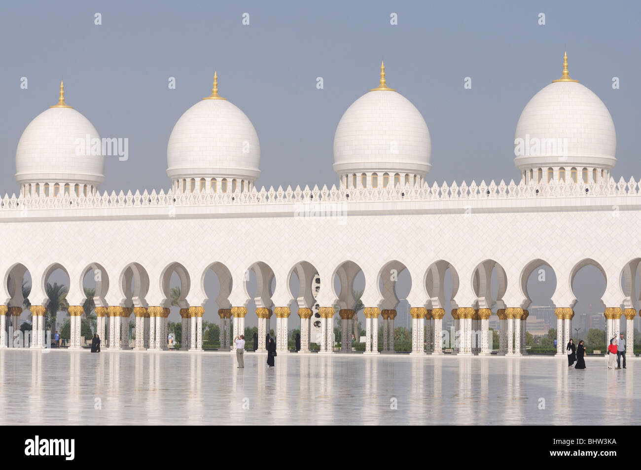Moschea Sheikh Zayed di Abu Dhabi, Emirati Arabi Uniti Immagini Stock