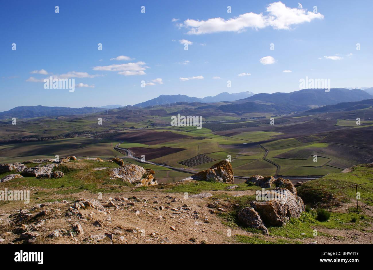 Il castello di TEBA Andalusia Spagna SITO DI BATTAGLIA IN crociate dove nero Douglas di Scozia è stato ucciso, Immagini Stock