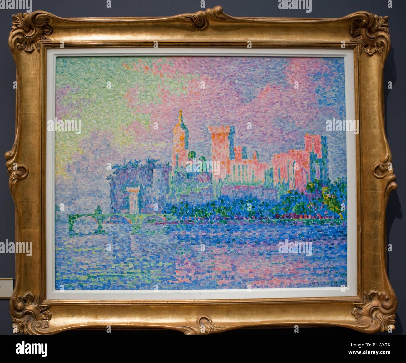 Parigi, Francia - Dettaglio, Post-Impressionism pittura all'interno del Museo Orsay Musee d'Orsay Immagini Stock