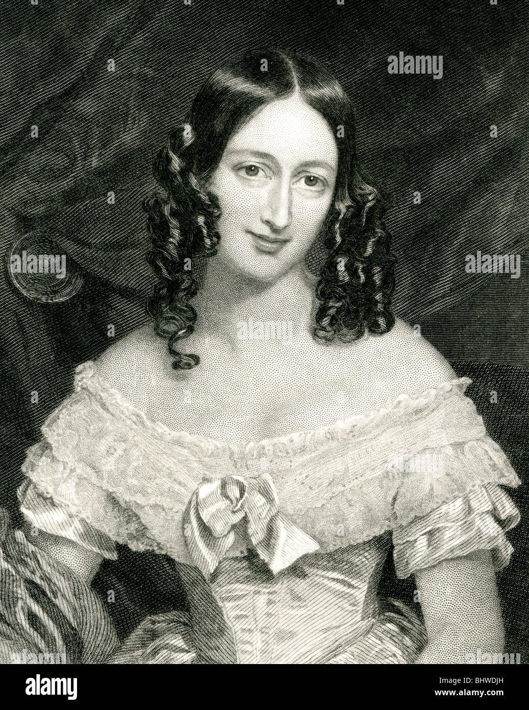 Onorevole CHARLES KEAN - moglie del Vittoriano attore Immagini Stock