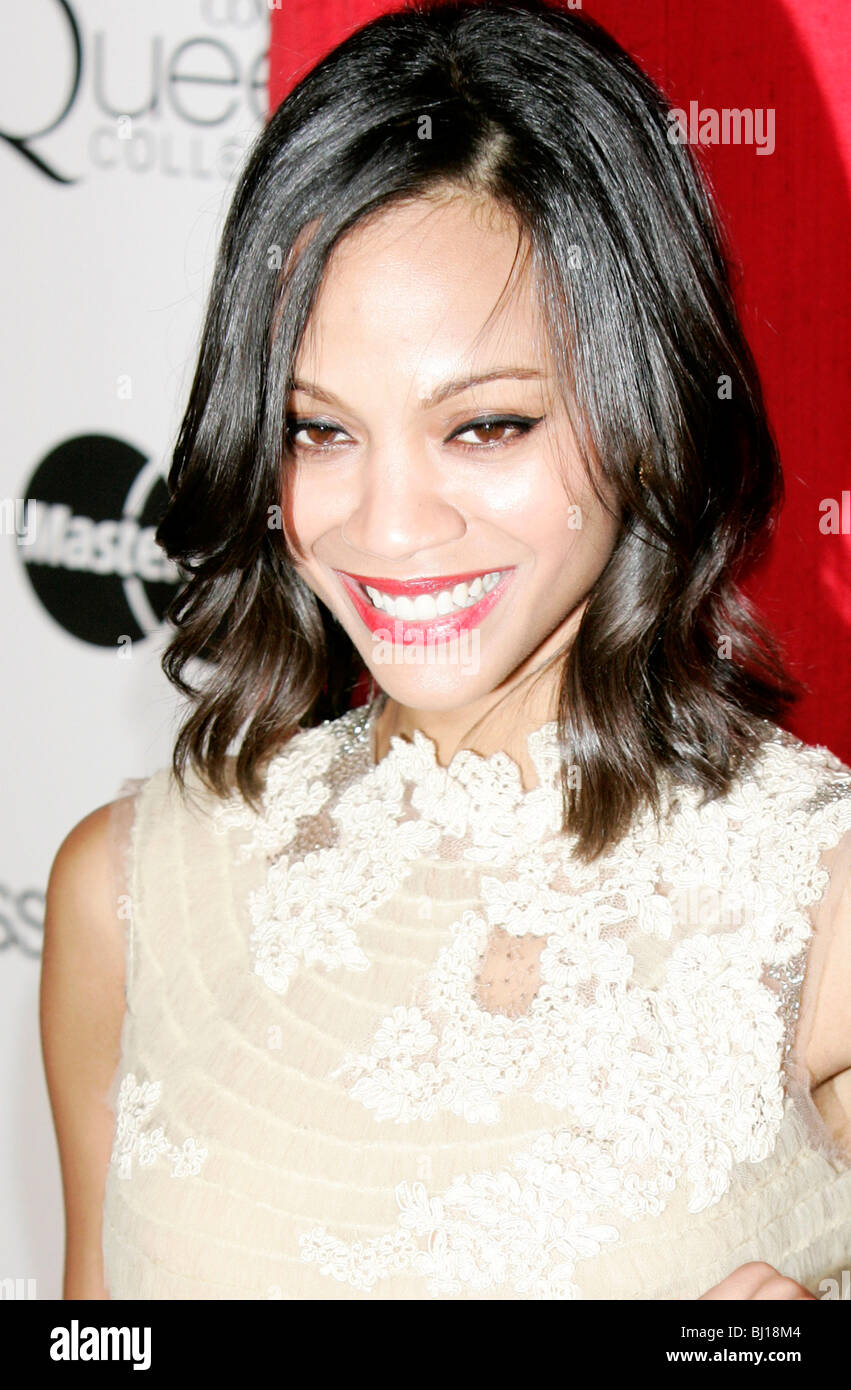 ZOE SALDANA 3RD ESSENZA ANNUALE NERO DONNE IN HOLLYWOOD LUNCHEON BEVERLY HILLS HOTEL BEVERLY HILLS USA 04 Marzo Immagini Stock