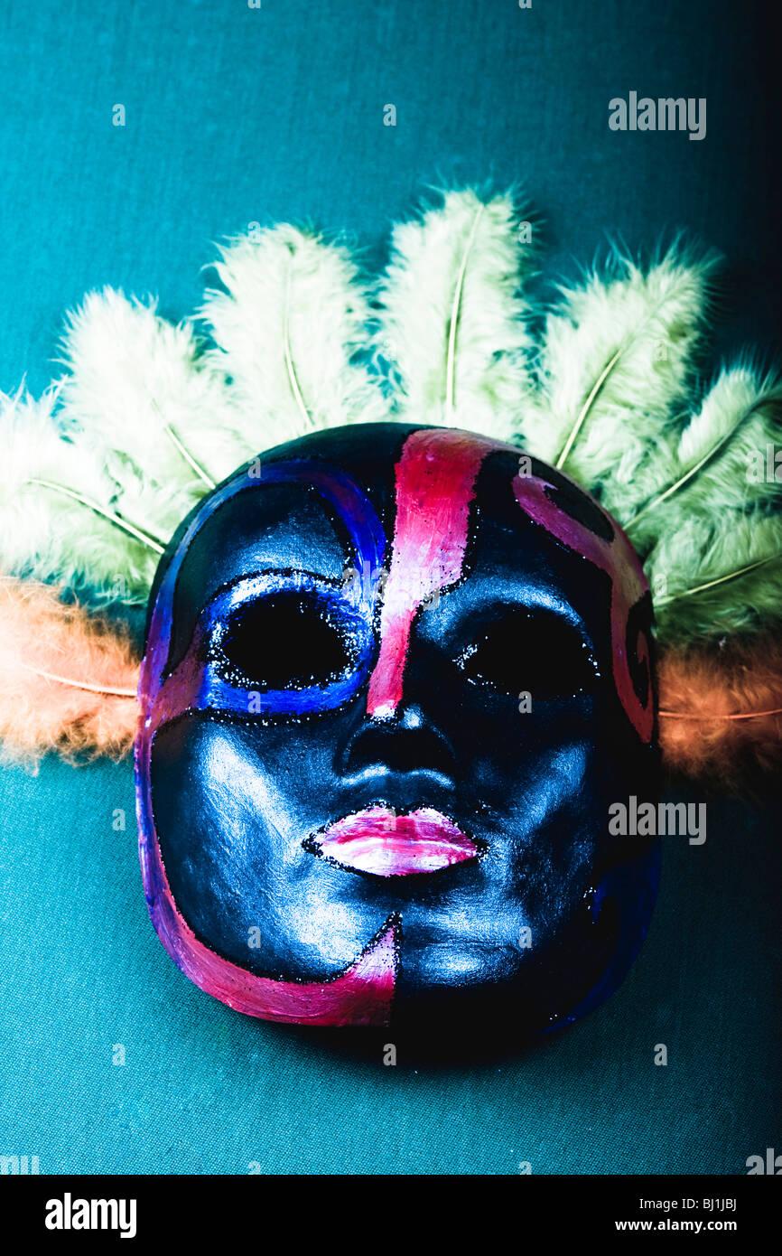 Fatte a mano maschera di Carnevale Immagini Stock