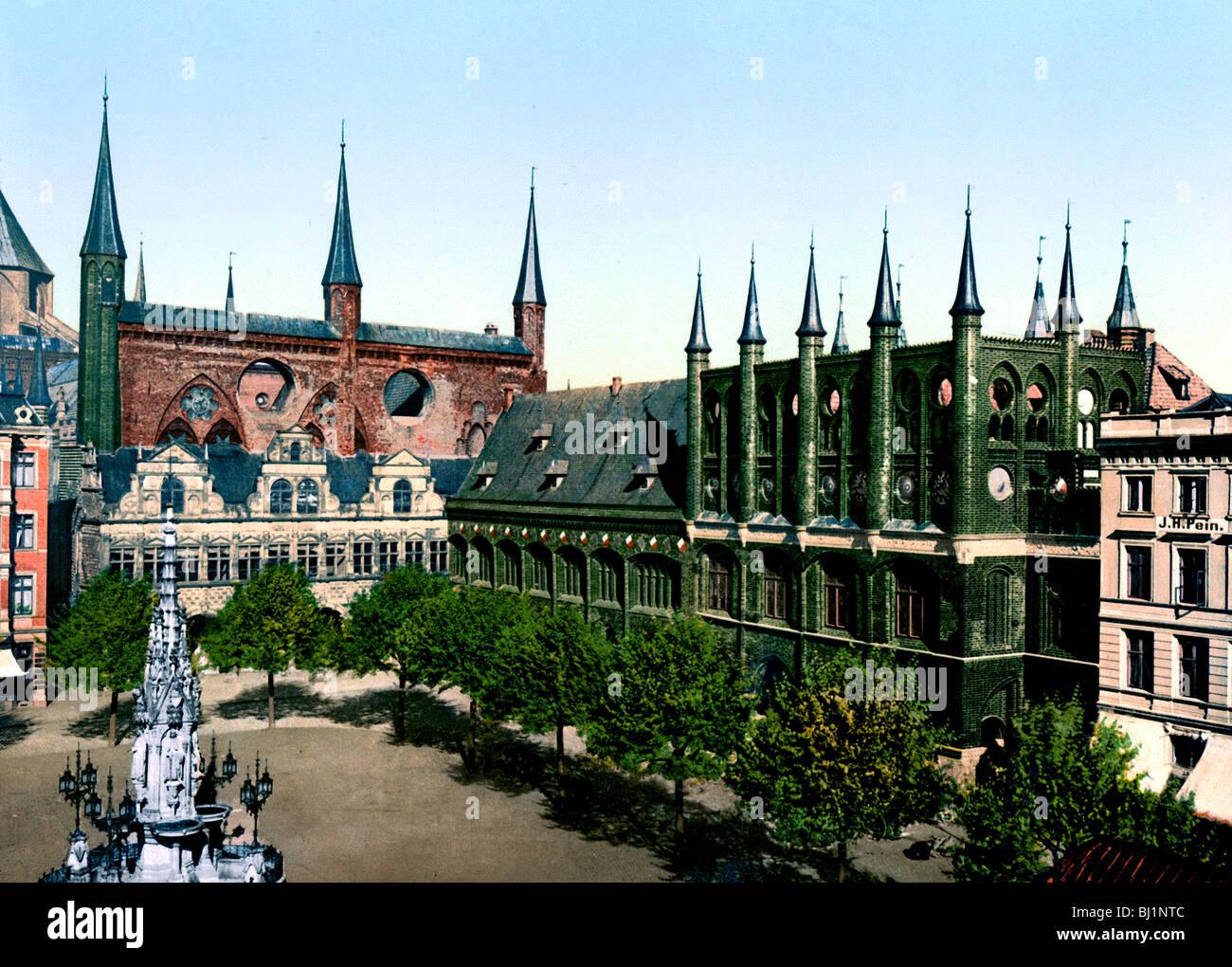 Marktplatz Lübeck Immagini Stock