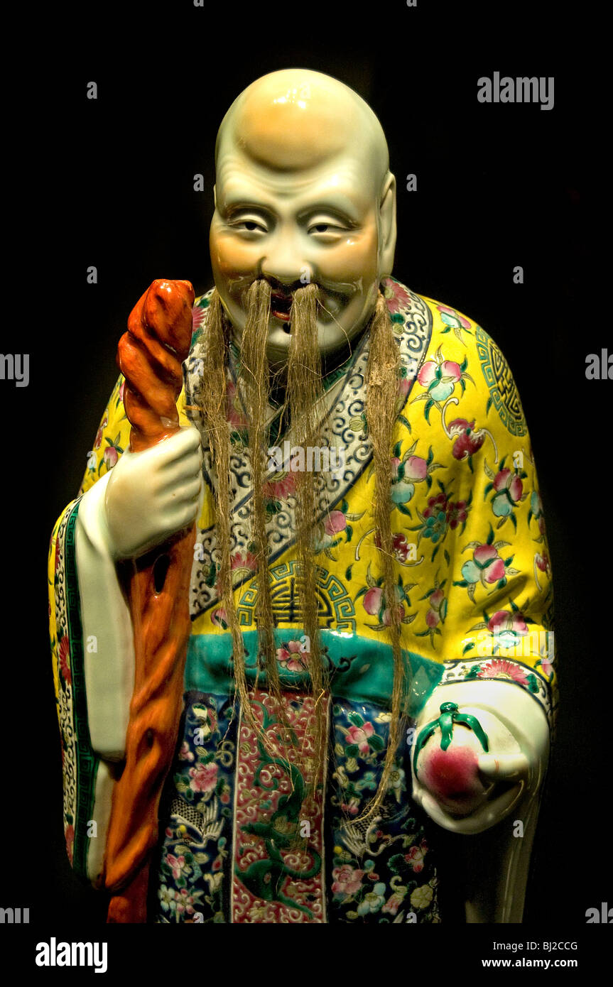 Shou Xing dio della longevità di lunga vita e la vecchiaia cinese Immagini Stock