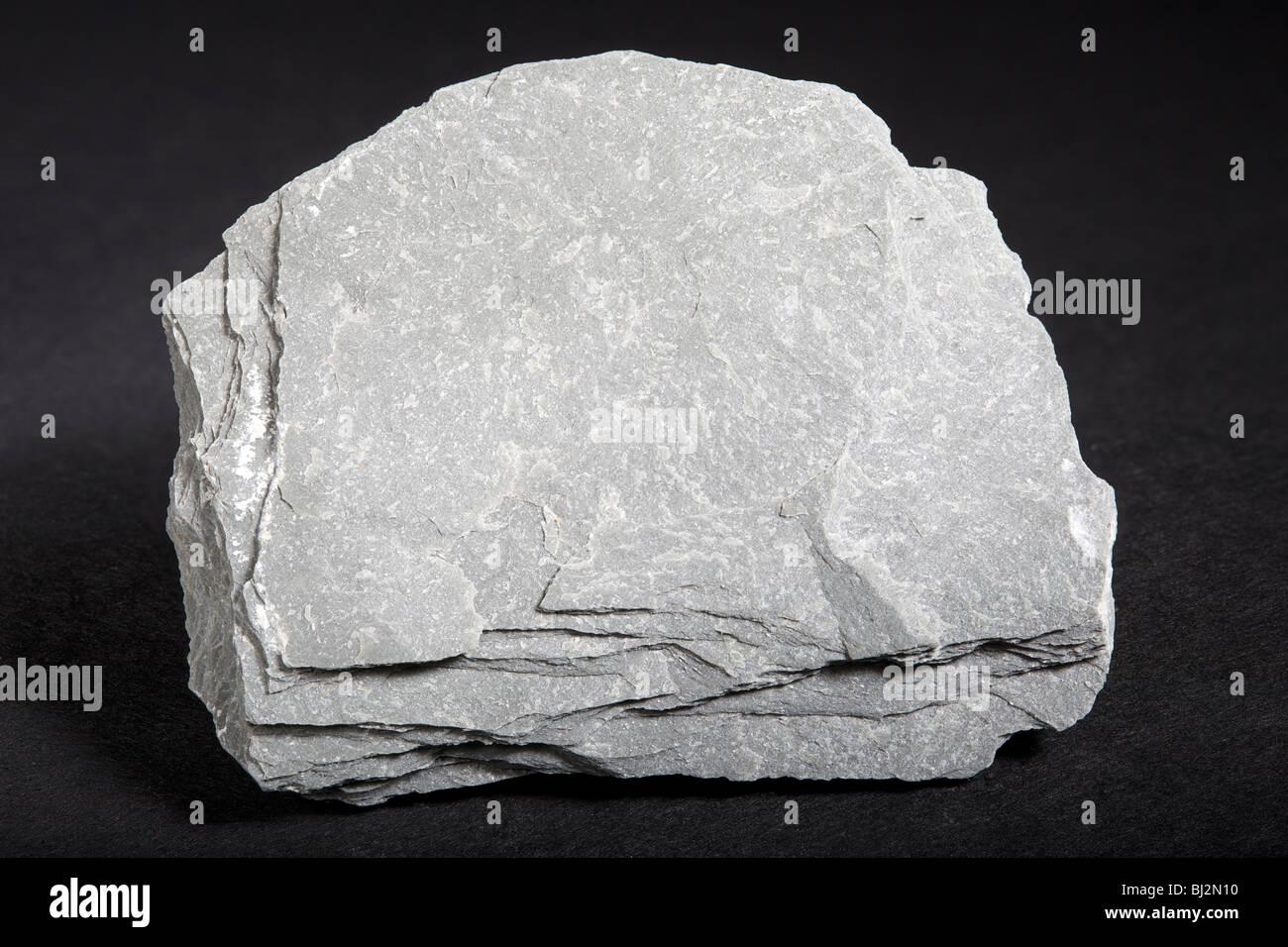 L'ardesia (rocce metamorfiche) Immagini Stock