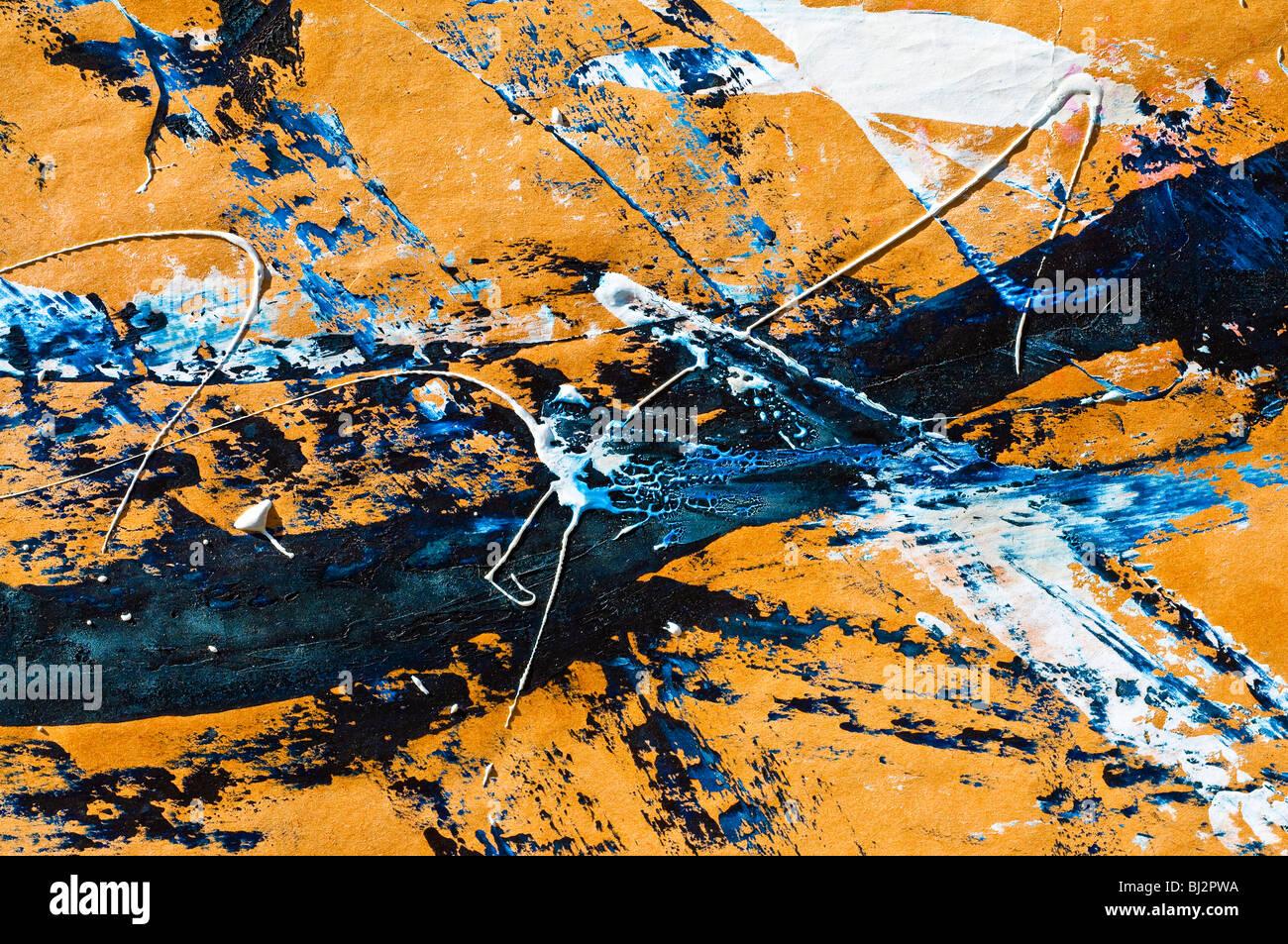 Moderno gouache astratta della pittura. Immagini Stock