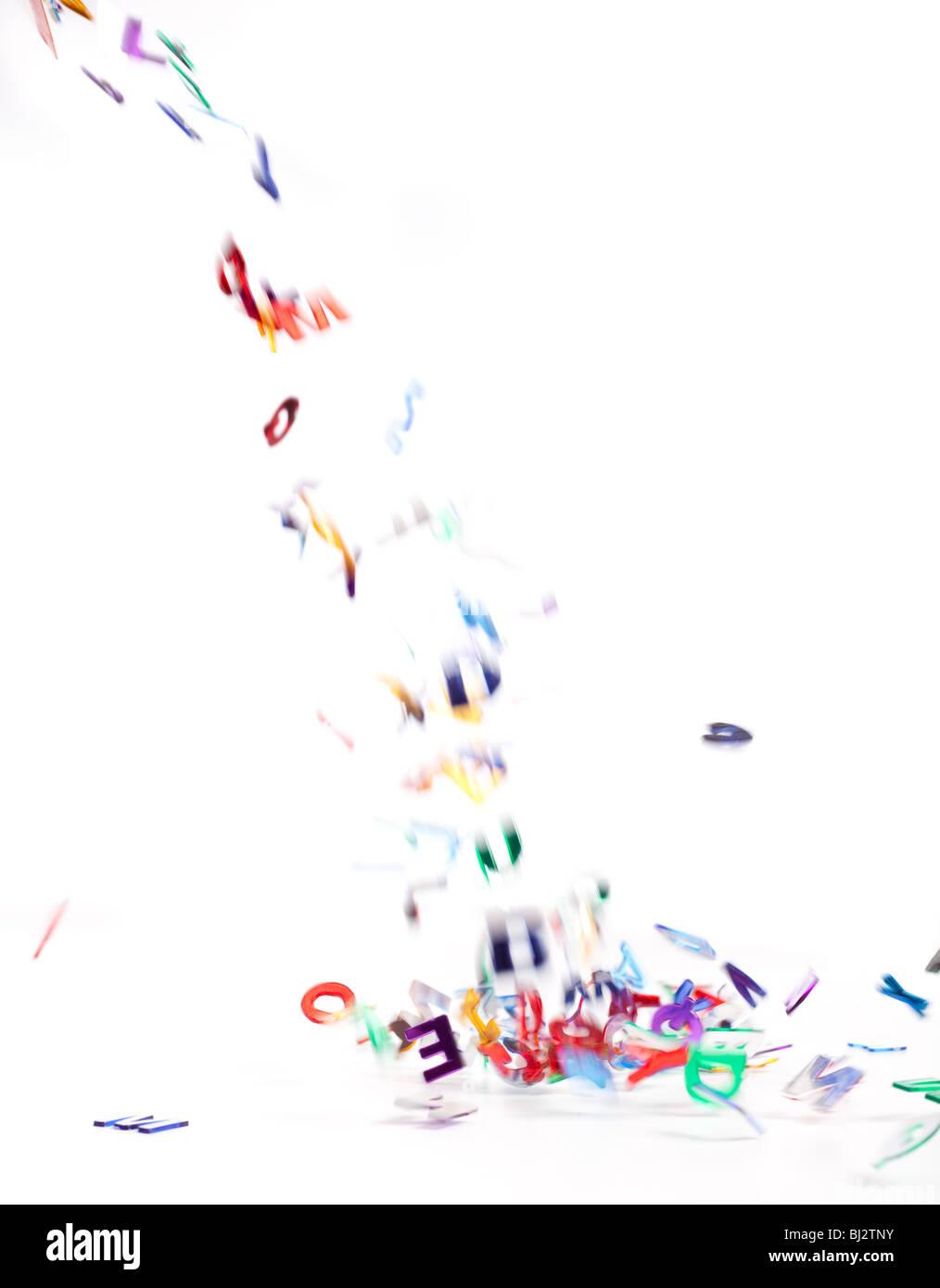 Lettere su bianco Immagini Stock