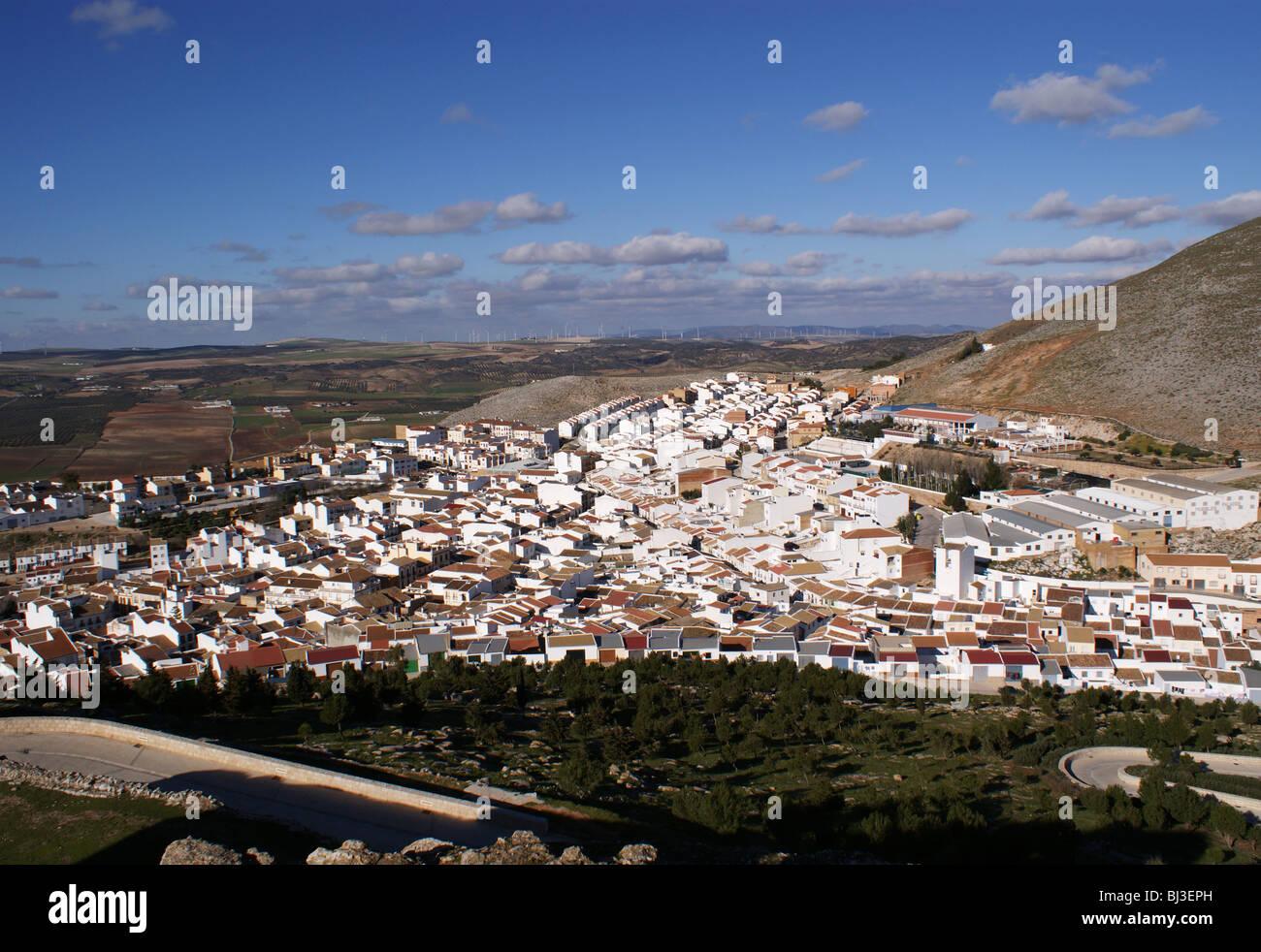 TEBA Andalusia Spagna vista del villaggio di Teba dal castello Immagini Stock