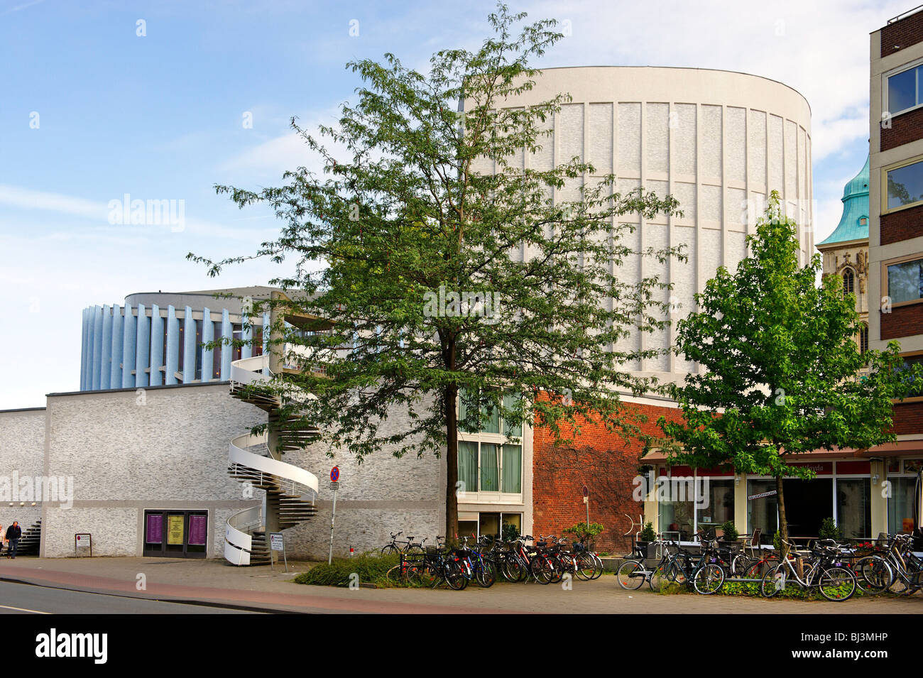 Teatro locale di Muenster, Renania settentrionale-Vestfalia, Germania, Europa Immagini Stock