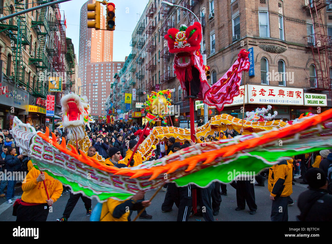 Cinese o il nuovo anno lunare in Chinatown, Manhattan New York City Foto Stock