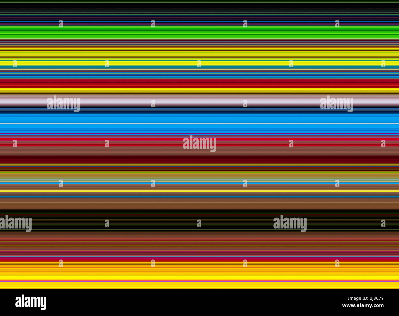 Multicolore linee striped pattern. Illustrazione digitale realizzata da una fotografia Foto Stock