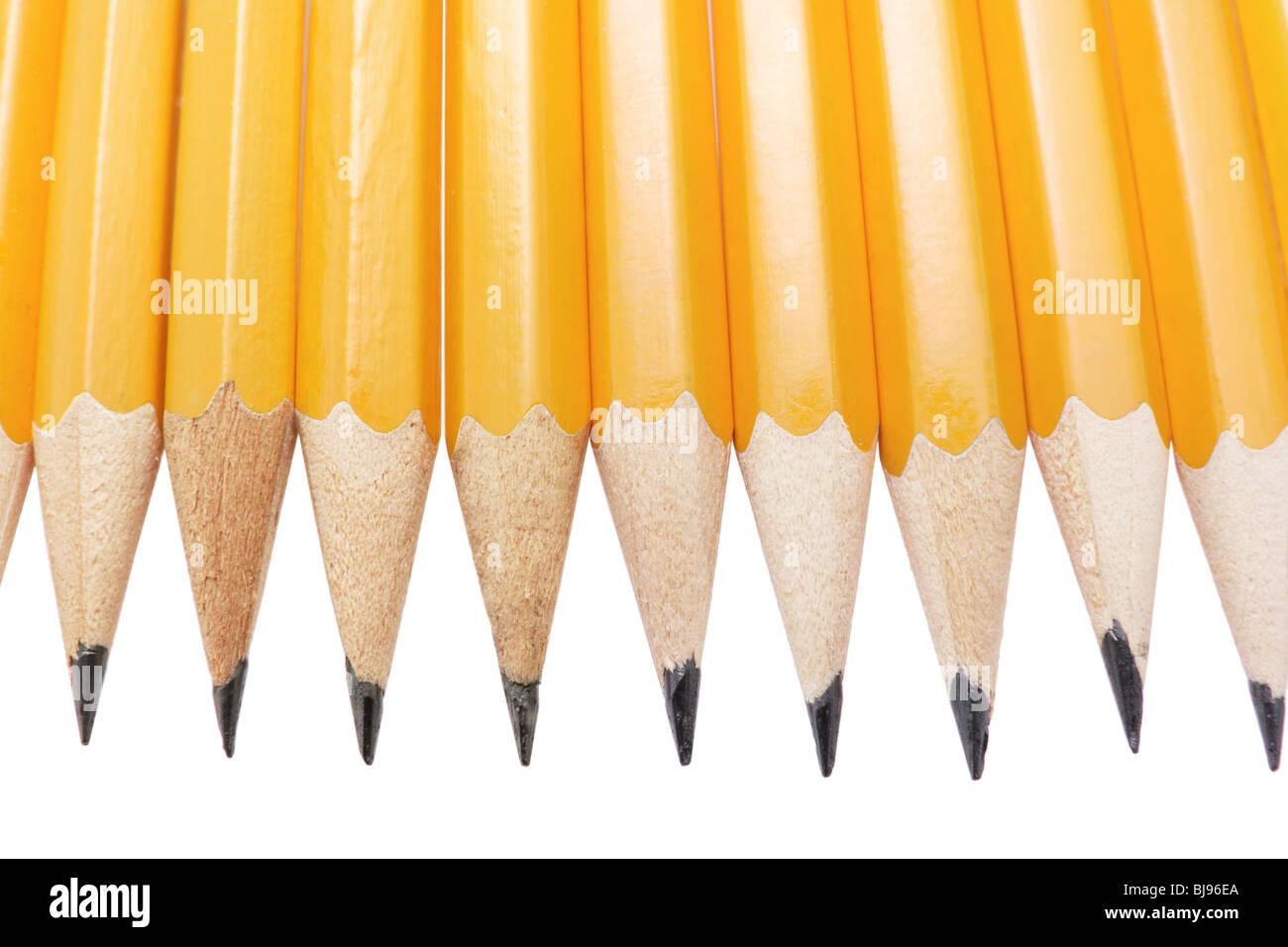 Riga delle matite Foto Stock