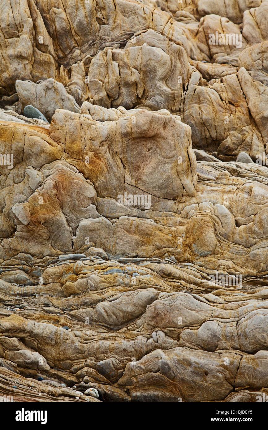 Marrone roccia sedimentaria sfondo Immagini Stock