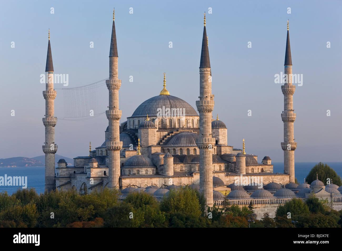 La Moschea Blu, Sultan Ahmet Mosque 1609-1616, quartiere di Sultanahmet, Istanbul, Turchia Foto Stock
