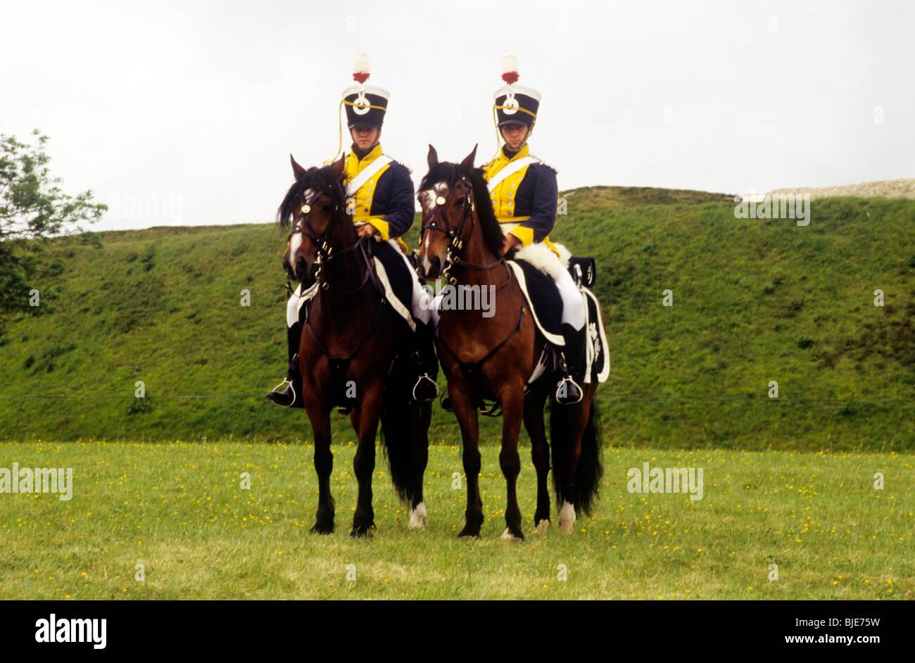 Dodicesimo reggimento di luce dragoni, c.1800, soldato soldati di cavalleria inglese britannico storia militare Immagini Stock