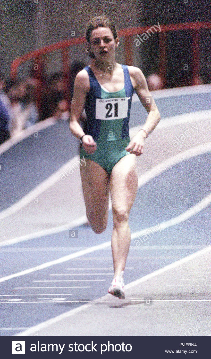 23/01/94 scozzese di atletica leggera indoor campionato Kelvin Hall - scozzese di Glasgow atleta Melanie Neef in Immagini Stock