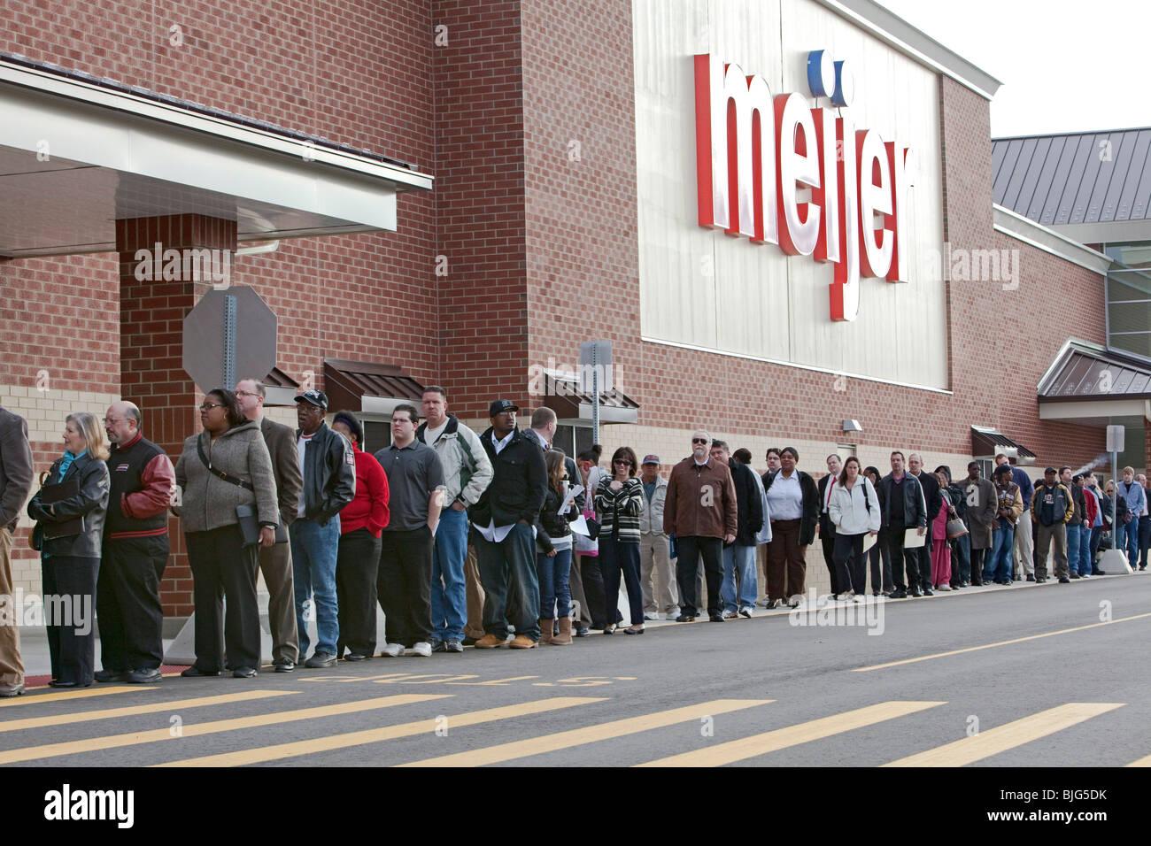 Disoccupati linea fino ad applicare per i lavori Immagini Stock