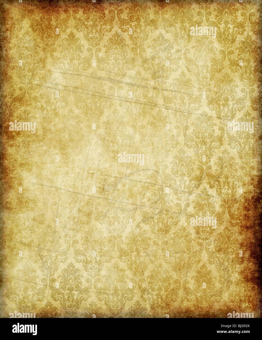 Grande vecchia carta pergamena o texture di sfondo Immagini Stock