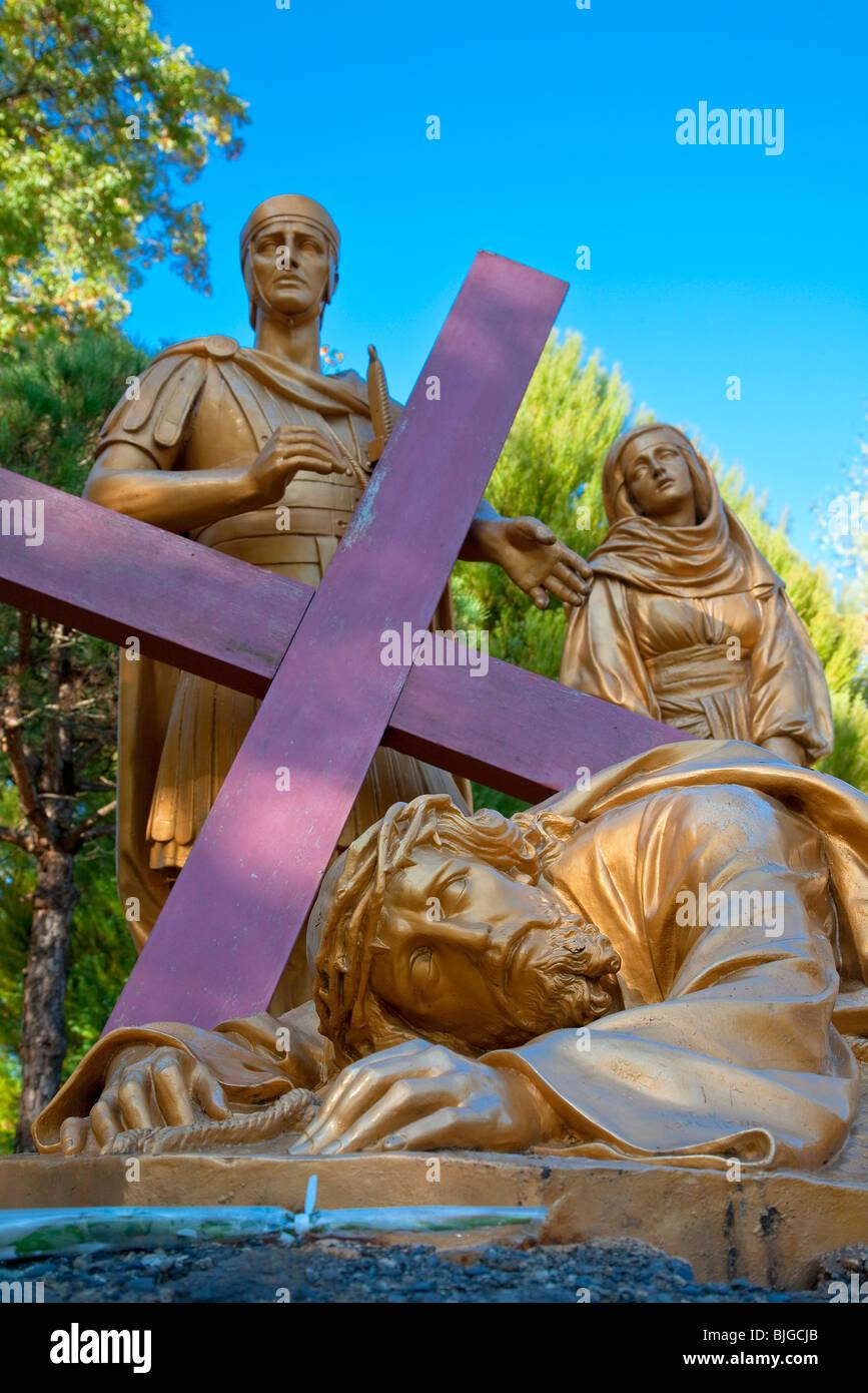 Via della Croce, Lourdes Immagini Stock