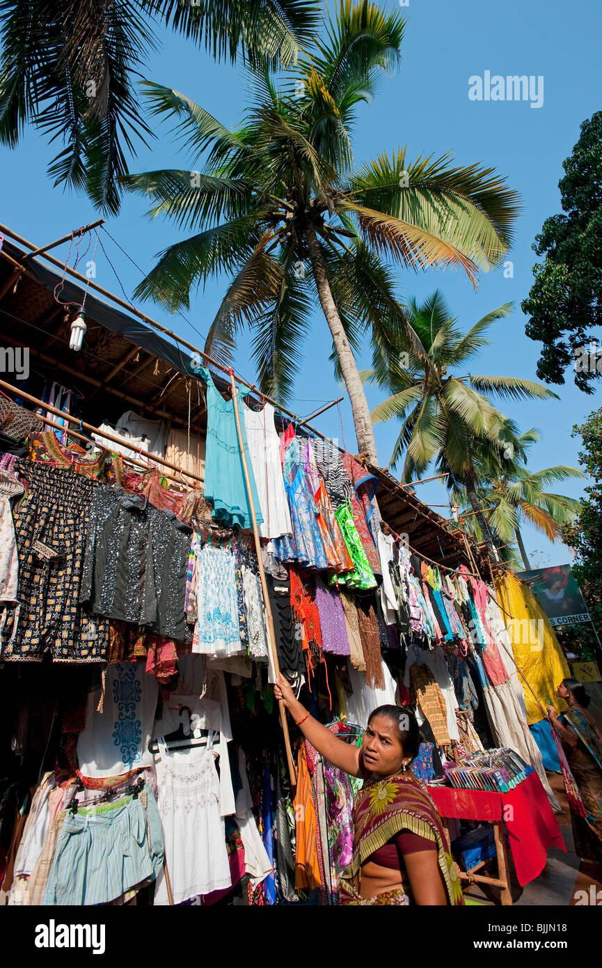 Negozio a Baga, Goa, India Immagini Stock