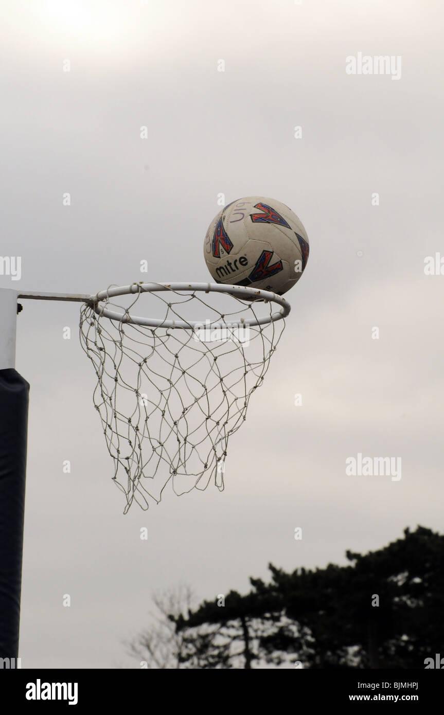 Inter-scuola netball per gioco. Immagini Stock