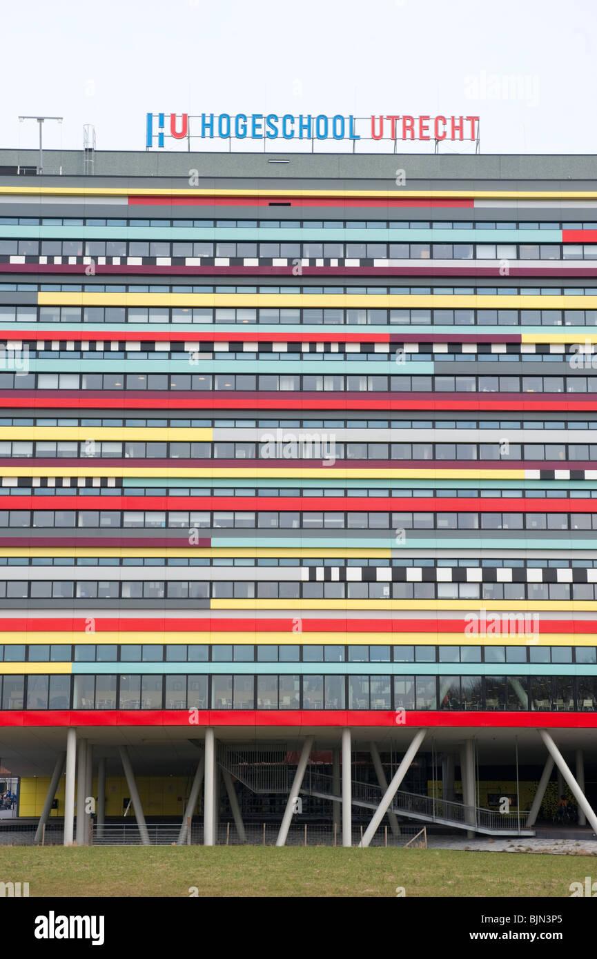 Esterno della moderna architettura della Università di Utrecht costruzione nei Paesi Bassi Immagini Stock