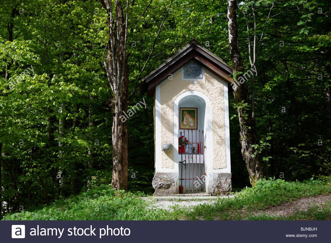 Religioso santuario nei pressi del lago di Bled Slovenia. Immagini Stock