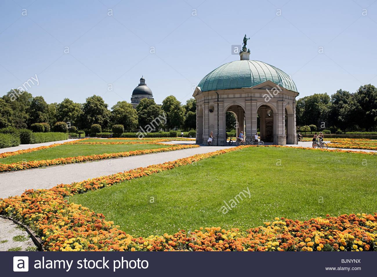 Hofgarten Monaco di Baviera Immagini Stock