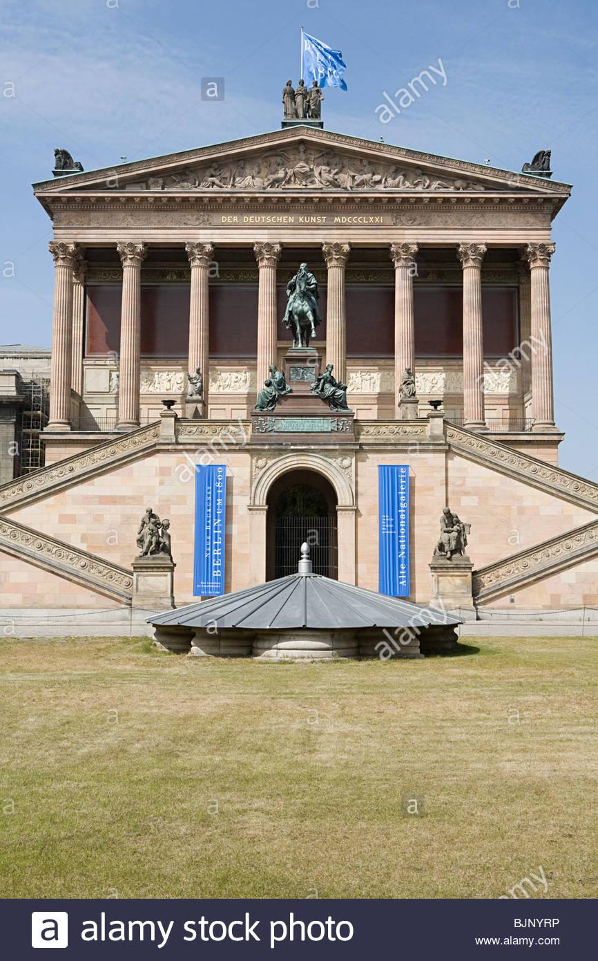 Vecchia galleria nazionale di Berlino Immagini Stock