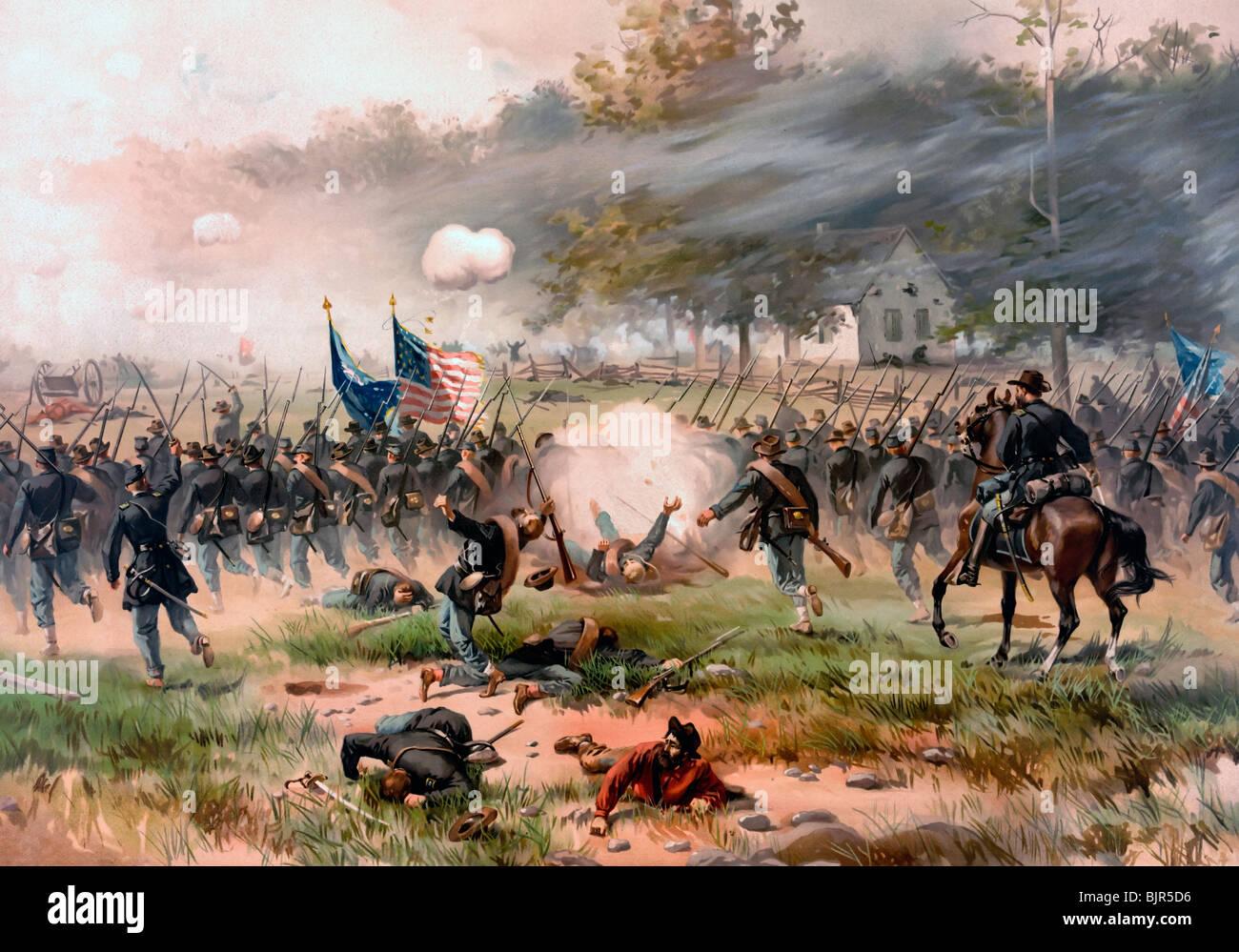 Battaglia di Antietam o Sharpsburg, combattuta il 17 settembre 1862 durante gli Stati Uniti dalla guerra civile Immagini Stock