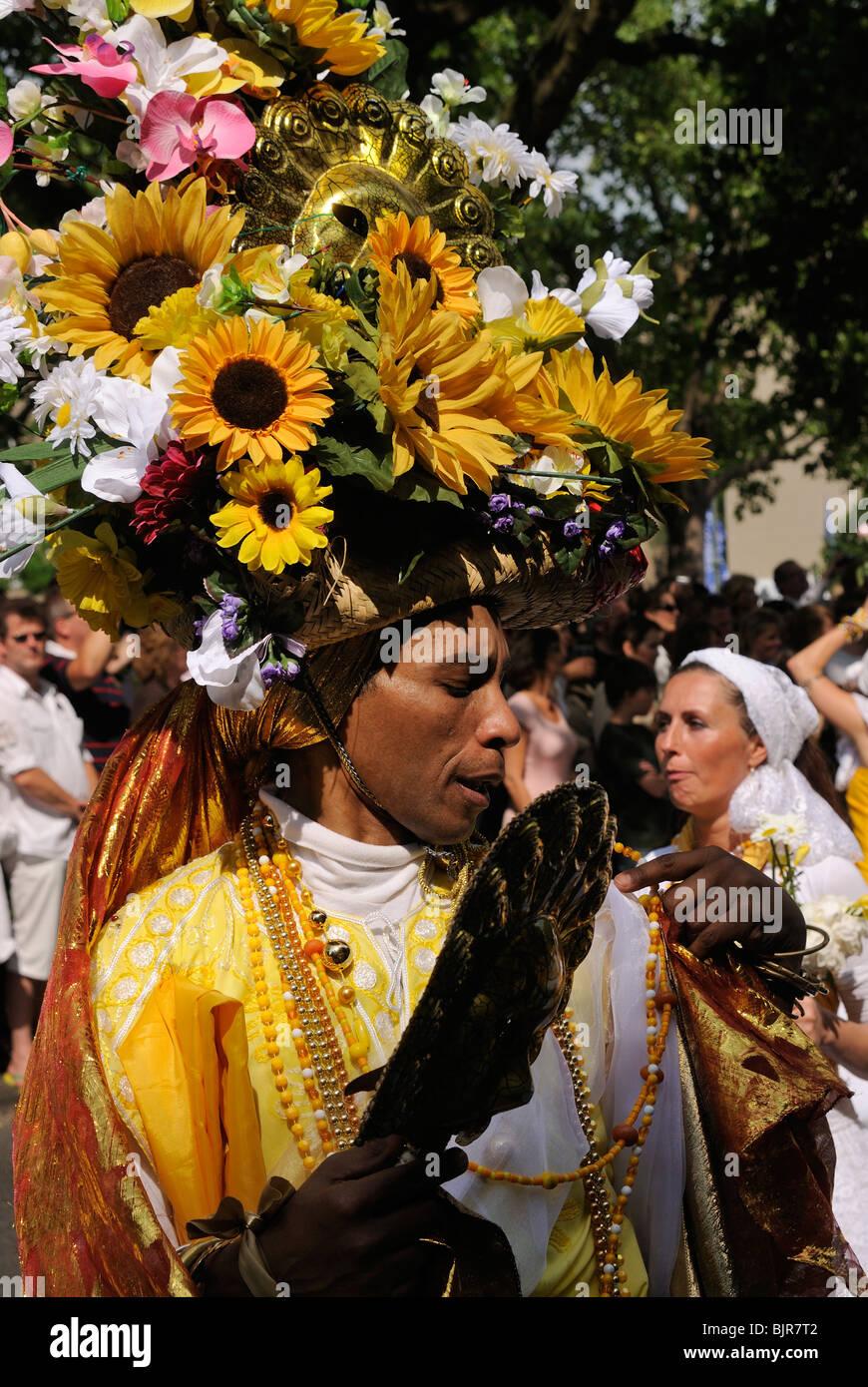 Karneval der Kulturen, il Carnevale delle culture di Berlino, quartiere di Kreuzberg, Germania, Europa Immagini Stock