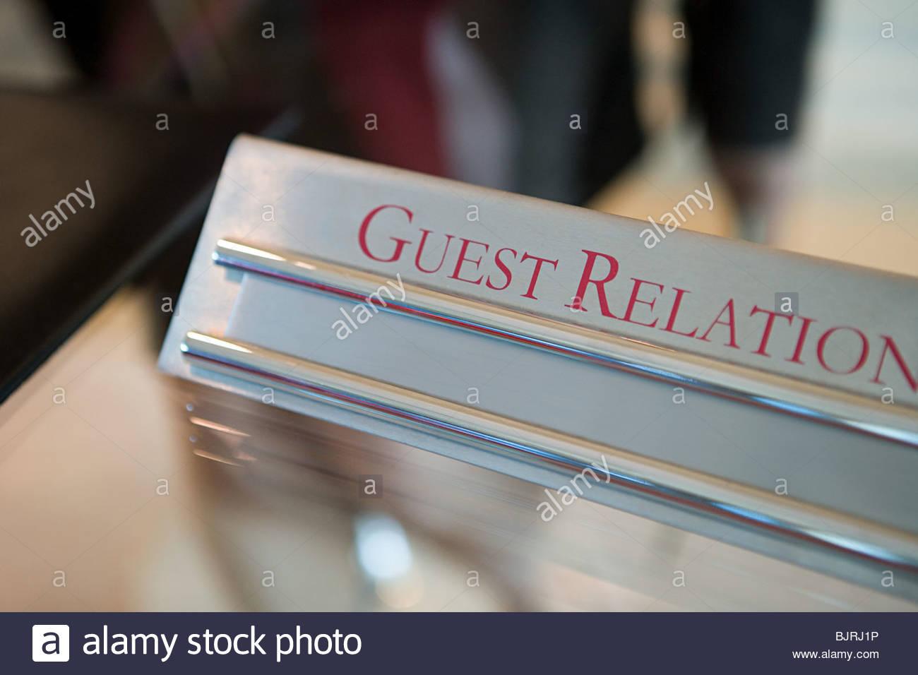 Relazioni clienti segno Immagini Stock