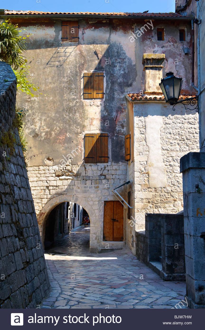 Cancello di Kotor mura, Montenegro Immagini Stock