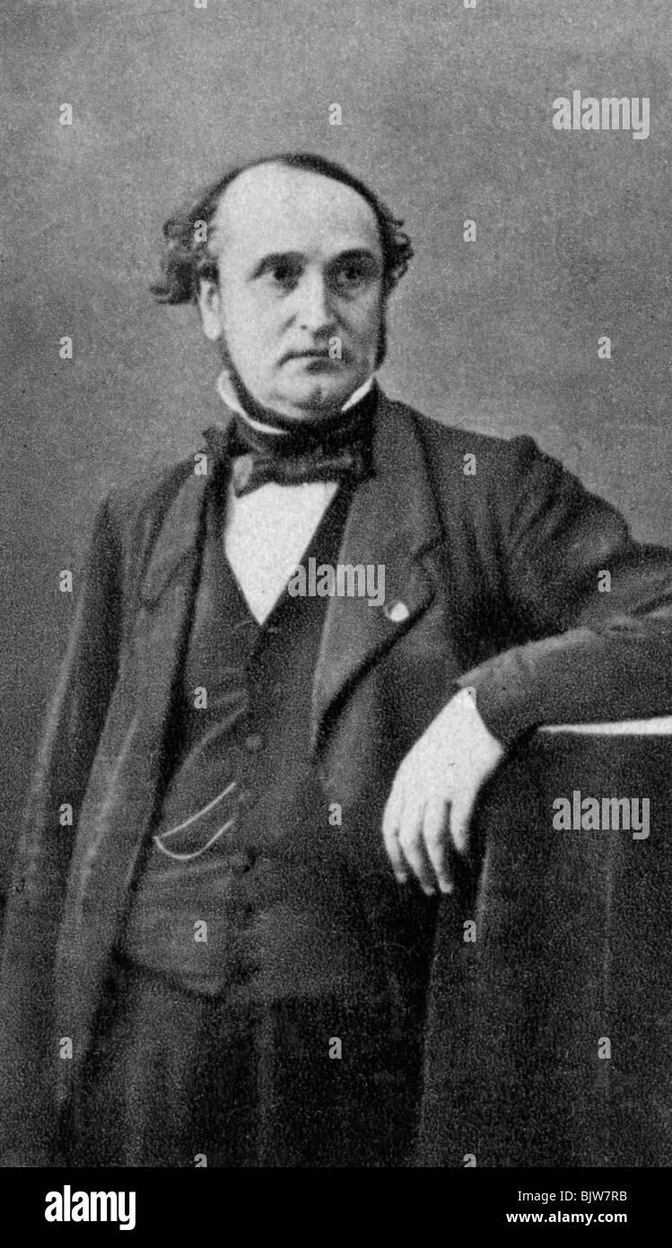 Francois Clemente Sauvage, ingegnere francese e uomo politico, 1854. Immagini Stock