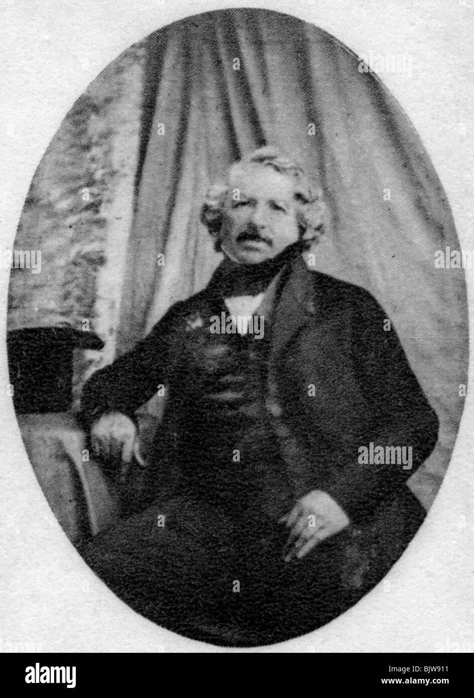 Louis Daguerre, francese pioniere della fotografia, c1845-1851. Immagini Stock
