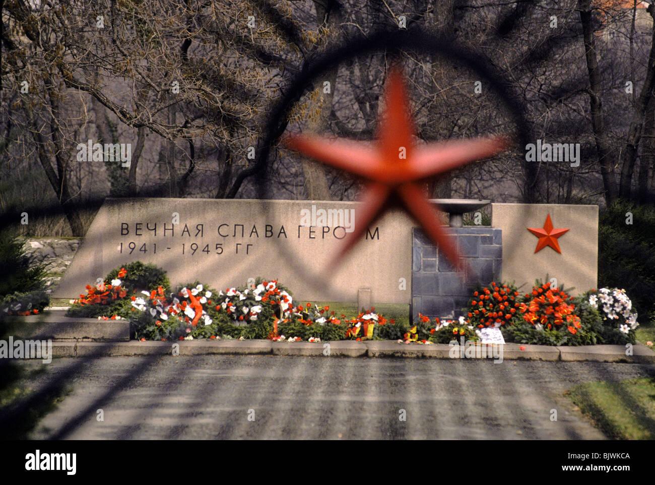 Un memoriale per i soldati russi uccisi durante la Guerra Mondiale ll a Potsdam, Germania Immagini Stock